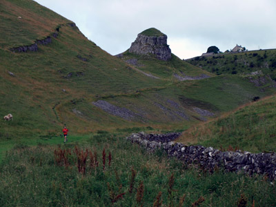 Jogger in upper Cressbrook Dale